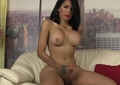Gorgeous tgirl jerking her dick irrevocably