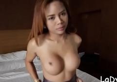 Sassy thai t-girl screwed steadfast