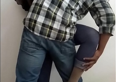 Office Sexual congress - Horny Indian Shemale Slut Manusha exposing on cam with a colleague