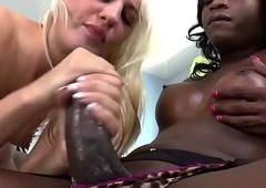 Hailey Sumptuously fucks a black T-girl - T-girl Idol