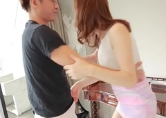 Alluring ladyboy screwed after tittyfucking
