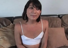 Repartee trans babe dicksucking at casting