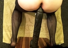 Sexy sissy and very deep swarthy dildo