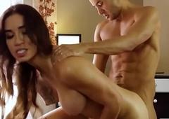 Tgirl Tori Mayes group-fucked on massage table