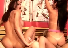 Four t-babes have neglected fuck and bang shedicks cowgirl style