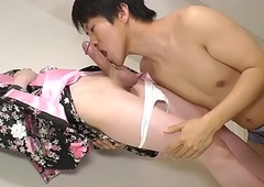 Wanking asian ghetto-blaster rectally drilled