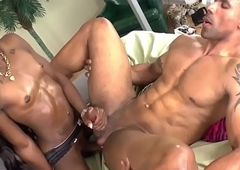 Anal loving ebony lady-boy bangs her lover
