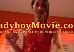 Ladyboy Prem Frottage and Without a condom