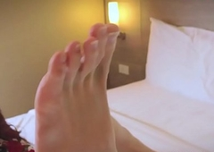 Low caring ladyboy loveliness frontage her soles
