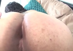 Amateur casting ladyboy jerks and widens booty