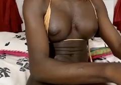 Ebony Transsexual Around a Gross Cock