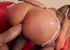 Bigtitted lady-man assfucked in stockings