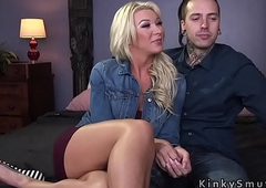 Tranny anal fucks her inked date
