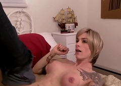 Blonde ts spoil bitchy