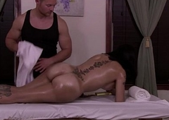 TS Foxxy question beam Jett Parker at hand massage her ts body gets fuck