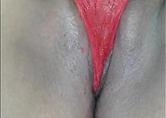 Iciness vagina de mi caliente mujer con calzon rojo