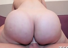 Pulsating one-eyed monster in tranny'_s butthole