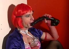 sissy dildo sucking