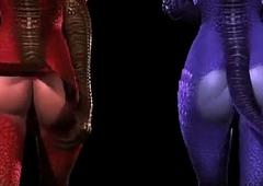 2 demon  lady-mans fucking