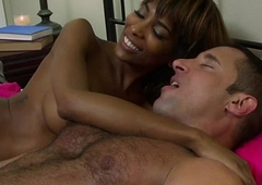 Sexy TS Natissa receives a mixing stroke and ass fuck with her boyfriend