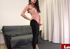 Busty t-girl wanking for ages c in depth analfingering