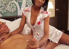 Wireless nurse assfucked deeply and jizzed on