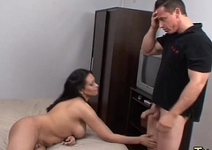 Street tranny hustler in a guest-house room