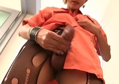 Sheboy Nattcha Wanks Off With Ass fucking Probe Inside
