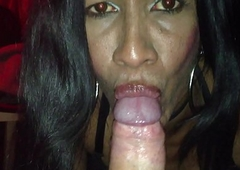 The bitch makes me a oral pleasure and licks my balls inhibit the cum in mouth