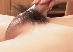 Shemale Tai Strokes Hairy Dick