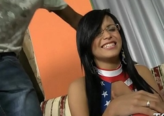 Taut irritant of tranny girl is drilled