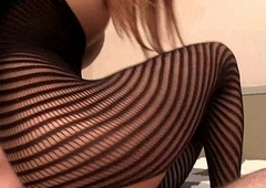 Tight Striped Bodysuit Creampie