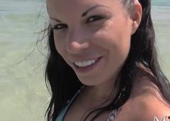 Amanda 23 - Sperma schl&uuml_rfen auf Mallorca - Cum munching on Mallorca