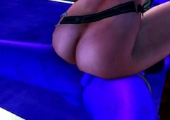 3D babe rails a sexy ladyboy monsters enduring cock