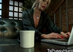 Busty tranny dick sucked at one's disposal blind date