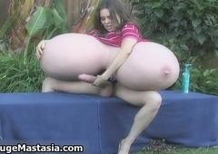 Hawt brunette infant with massive heavy bosom