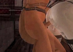 Sexy 3D send up shemale pamper gets fucked anally