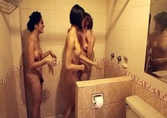 t-girl oriental trannies soaping each remodelling in turn in a difficulty shower